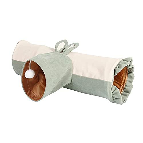 Túnel para mascotas de 3 vías, plegable, para gatos, túnel, plegable, para jugar, tubo, juguetes para gatos, juguete de mirilla para conejos de interior, gatitos, perros pequeños, conejillos de India