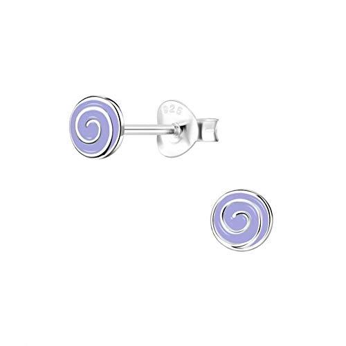 Laimons Schmuck-Krone - Pendientes para mujer (6 mm, plata de ley 925), diseño de espiral