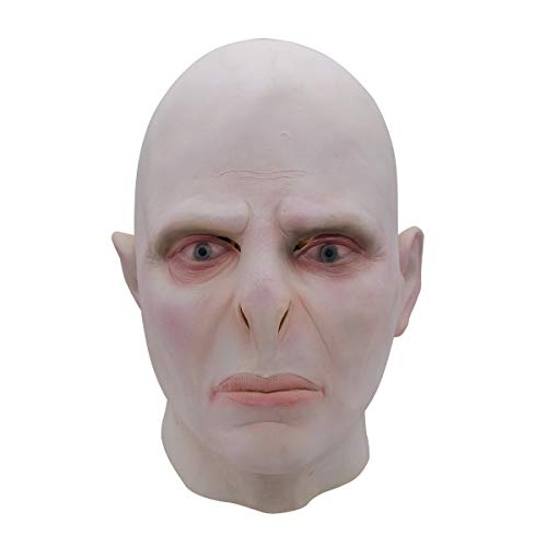 LuBHnna Voldemort Maske Halloween Latex Horror Scary Vollkopfmaske Adult Masquerade Rollenspiel Dress Up Prop