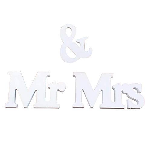DOMIRE Herr Frau Sign Letters 3D-Holz-Buchstaben für Hochzeit Tischdeko Hochzeit Schatz Tischdekorationen
