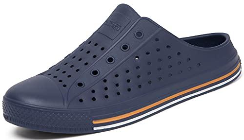 SAGUARO Pantofole Uomo Estive Ciabatte Casa Zoccoli Sanitari Mare Antiscivolo Sabot Chiuse Spiaggia Comode Blu Scuro 43