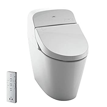 Toto MS920CEMFG#01 1.28-GPF/0.9-GPF Washlet with Integrated Toilet G400 Cotton White