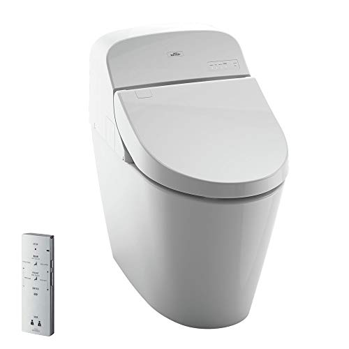 TOTO MS920CEMFG#01 G400 WASHLET Bidet Seat with Integrated Dual Flush 1.28 or 0.9 GPF Toilet, Large - LTL, Cotton White
