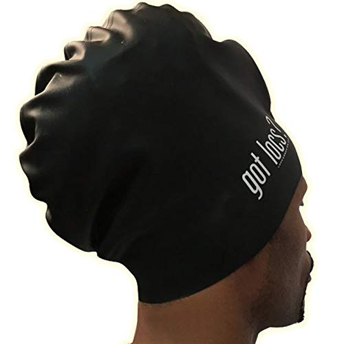 Stays Put XL Extra Large Aqualocs Dreadlocks Swim Cap for Braids and Dreads, Thick Hair, Faux...