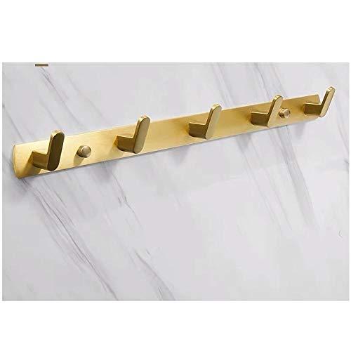 Aleación de aluminio de oro 3 ganchos 4 ganchos 5 ganchos 6 ganchos moda moderno montaje en pared ganchos de la pared sala de estar dormitorio ganchos-C2 Gancho para toallas de pared fácil de in