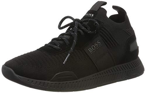 BOSS Titanium_Runn_knst, Zapatillas para Hombre, Negro (Black...