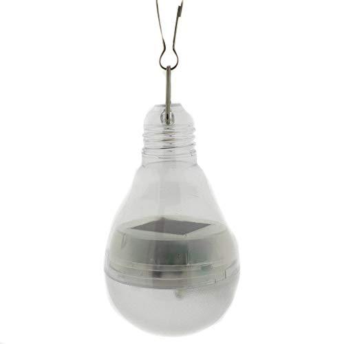 Solarlampe in Form einer Glühbirne mit 4 Led´s zum Hängen ca. 9 cm - Solarbeleuchtung Outdoor - Partybeleuchtung - Solar-Panel - Gartenbeleuchtung LED.Lampe