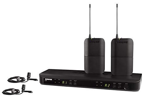 Shure BLX188E/CVL Sistema de micrófono inalámbrico de doble canal con 2 petacas & 2 micros lavalier CVL