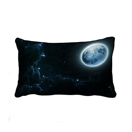 Beautiful Dream Moon and Stars Maorongbu - Funda de almohada (impresión de doble cara), diseño de luna y estrellas, 20 cm x 30 cm
