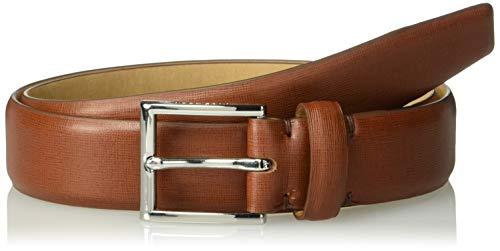 Cole Haan Men's Leather Belt, British Tan/Polished Nickel, 36