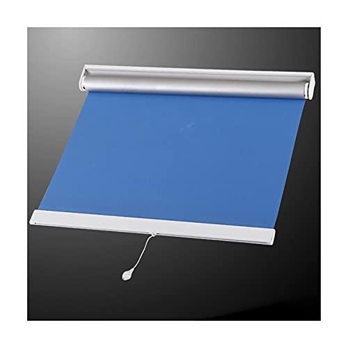 JIANFEI Cortina enrollable 100% sombreada completa para el hogar, protección de la privacidad, tira de punzón, impermeable, 2 colores, tamaño 31, personalizable (color: azul, tamaño: 90 x 180 cm)