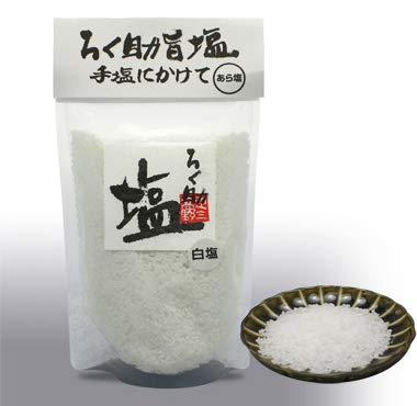 ろく助塩 あら塩(白塩)500g 大容量 干椎茸 昆布 干帆立貝のうま味をプラス