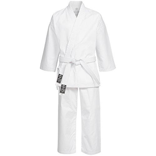Fightclub THFE 2.0 Kimono Gi - Kimono da karate, con cintura inclusa, più taglie disponibili, bianco, 110