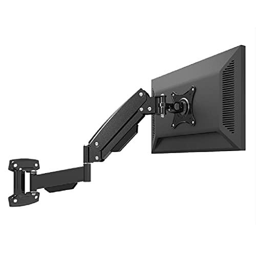 Wall-mounted monitor bracket TV computer universal bracket bearing 2-10 kg pneumatic arm bracket office bracket (Color : Black, Size : 61.3-68.3CM)