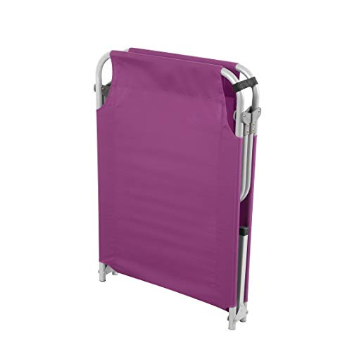 Magshion Portable Military Fold Up Camping Bed Cot + Free Storage Bag- 5 Colors (Purple)