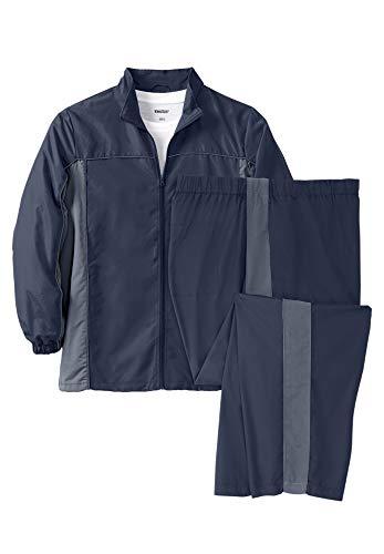 KingSize Men's Big & Tall Colorblock Tracksuit - Big - 4XL, Navy Colorblock