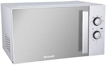 Brandt SM2606S Encimera 26L Espejo, Color blanco - Microondas (Encimera, 26 L, Giratorio, Espejo, Color blanco, Retirable, Izquierda)