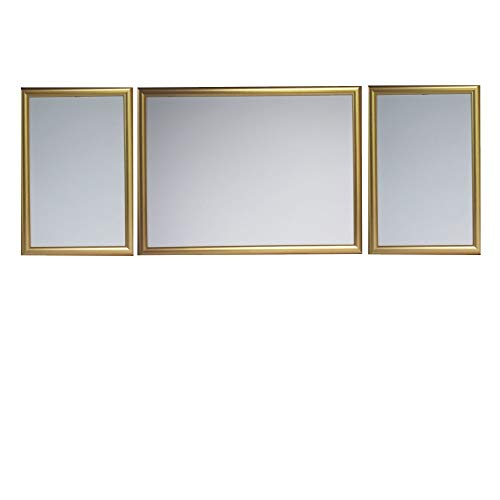 RAABEC Triptychon Bilderrahmen Set 3teilig, Größe 98 x 38 cm, Farbe Gold Antik, ideal für Triptychon Puzzle z.B. von Ravensburger