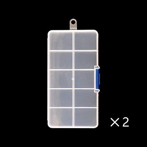 GUANGUA Boîte à Ongles Strass Pierres précieuses Accessoires de Stockage récipient en Plastique Transparent Vide, boîte de Rangement de Perles de Strass