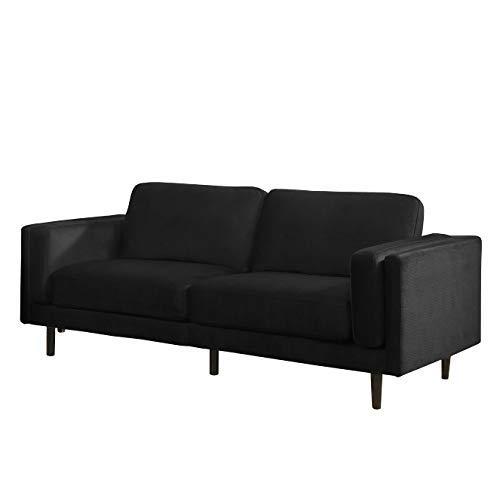 SEDEX NEAPEL Sofa 3-Sitzer Garnitur Couch Polstergarnitur Kunstleder - schwarz
