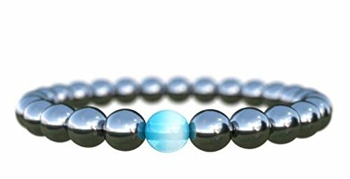 Hematite Magnetic Anxiety Bracelet - Improve Health, Happiness.Headache Migraine. Charged with Reiki Power Emotional and Spiritual Support.
