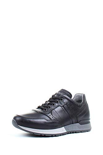 NeroGiardini A901190U Neopolis Nero Sneakers Stringate per Uomo in Pelle Nera (Taglia 43)