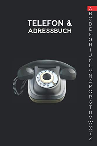 Adress und Telefonbuch: Ca. A5-Format für Adressen, Telefonnummer und Geburtstage mit A-Z Register
