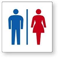 ユニット トイレ表示 アクリル 150×150×3mm厚(大) 842-64A 「男女マーク」