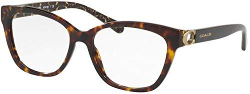Coach Women's HC6120 Eyeglasses, Dark Tortoise, 54/16/140