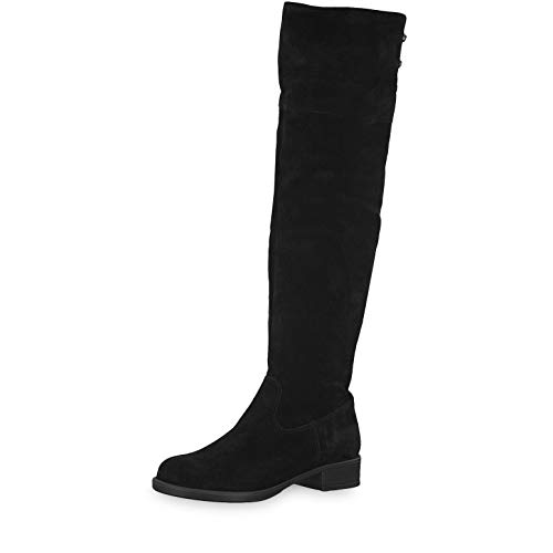 Tamaris Damen Stiefel 26557-23, Frauen Overknee Stiefel, weibliche Lady Ladies feminin elegant Women's Women Woman Freizeit,Black,37 EU / 4 UK