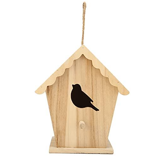Pajareras de Madera, Casa de pájaros DIY Casa de pájaros Casa de pájaros de Madera Casa para pájaros de jardín para el hogar para Exteriores para Interiores para jardín