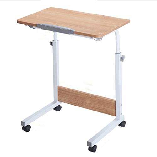 AFSDF Rolling Laptop Table Lap Desk For Laptop Rolling Cart Tilting Overbed Bedside Table Overbed Desk Overbed Table With Wheels Adjustable Laptop Stand Sofa Side Table With Pulley overbed table tilt