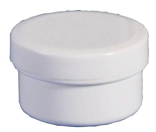 100 Salbendosen, Salbendose 5 g 6 ml Deckel weiß Salbendöschen Dose Kunststoffdose Schraubdeckeldosen Schraubdeckel Fa.ars
