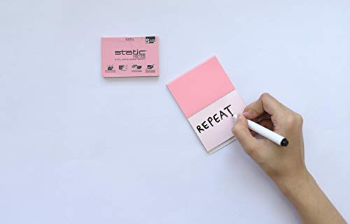 Static Fusion Clings   Reusable Glueless Writing Pads with Combination of A Whiteboard and A memo pad   Use Any Pen on one Side and Whiteboard Markers on The Backside 100 Sheets  Small Pink 