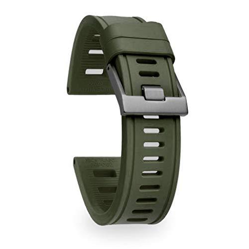 isofrane Gummi-Uhrenarmband für Sport- und Taucheruhren (22 mm, NATO-Grün)