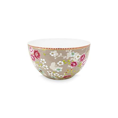 PiP Studio - Schale, Dessertschale, Müslischale - Chinese Rose - Early Bird - Porzellan - Khaki - D 18 cm