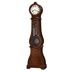 Howard Miller Anastasia IV Grandfather Clock 611-281 – Cherry Bordeaux Finish, Vertical Home Decor, Lightly Distressed, Aged Nickel Finished Pendulum, Locking Door, Cable-Driven, Single-Chime Movement