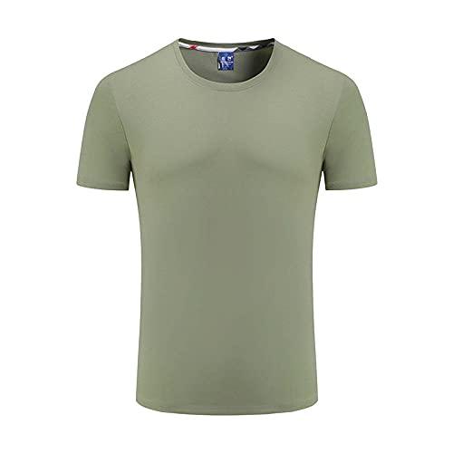 Damaifirstes Running Chaleco, overol de manga corta camiseta trabajador algodón T-shirt-pea green_Xxl