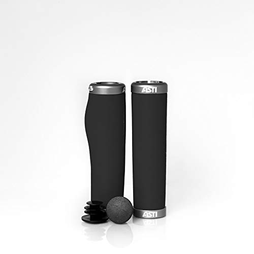 Astiboutique SILB - Juego de empuñaduras para Bicicleta de montaña de Espuma de Silicona patentada, cómodas y Resistentes, sin Olor, hipoalergénicas y seguras, diseño Flexible