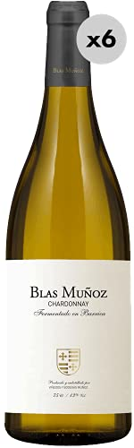 Blas Muñoz Chardonnay Barrica, Vino Blanco, 6 Botellas, 75 cl