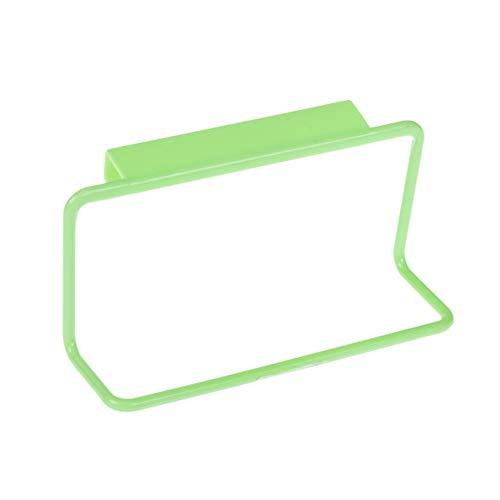 ShenZhenShiJinZhiWeiKeJiYouXianGongSis Toallero Bar Soporte para Colgar Organizador de rieles Armario de baño Colgador de Armario Accesorios de Cocina Soporte de Estante de Almacenamiento - Verde