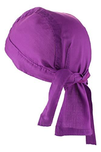 Alex Flittner Designs Bandana Cap unifarben lila