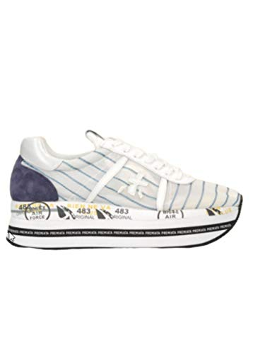 PREMIATA Beth 4628 Damen-Sneakers, Weiß, Weiß - Bianco - Größe: 41 EU
