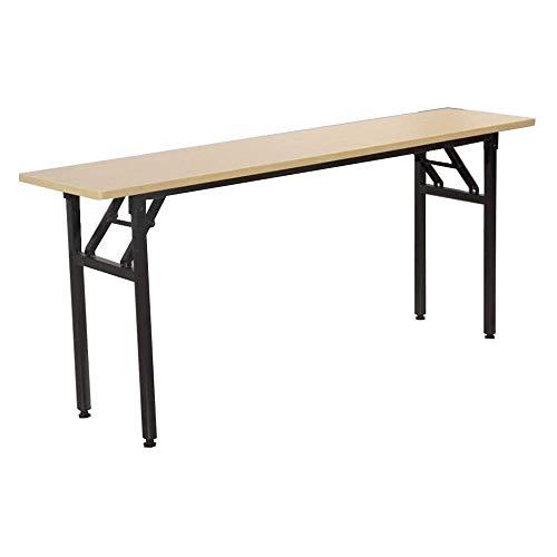 SQQSLZY Ancho escritorio plegable escritorio sin necesidad de Asamblea.Robusto y Pesado Desk por espacio pequeño y portátil de escritorio Sin desperfectos Deliver (teca color de escritorio y Negro del