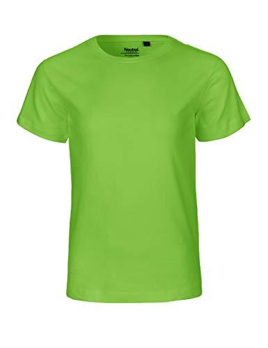- Camiseta de manga corta para niños, 100% algodón orgánico. Certificado de comercio justo, Oeko-Tex y Ecolabel. lima 128