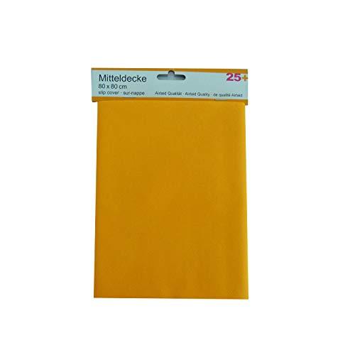 Braun & Company 3340-0002 - Mitteldecke Serie 25+, 80 x 80 cm, Tischdecke, Tischtuch, Airlaid-Tissue, Made in Germany, Festtafel, Partyzubehör, Dekoration, Haushalt
