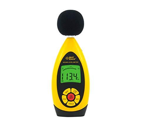 HYLH Dezibelmessgerät, digitales Geräuschpegelmessgerät Tester, LCD Digitales Geräuschpegelmessgerät Schallpegelmessgerät Monitor dB-Messgerät Messen von 30 dB bis 130 dB