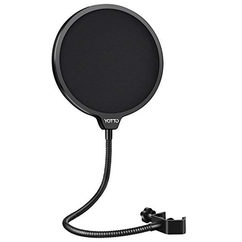 YOTTO Mikrofon Popschutz Mic Windschutz Schaum Windschutzscheibe Pop Filter für Blue Yeti, MXL, Audio Technica und andere Mikrofone