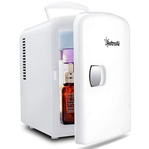 AstroAI 4-Liter Mini Fridge with 6 Can Capacity, White - $39.09 w/ Free Shipping