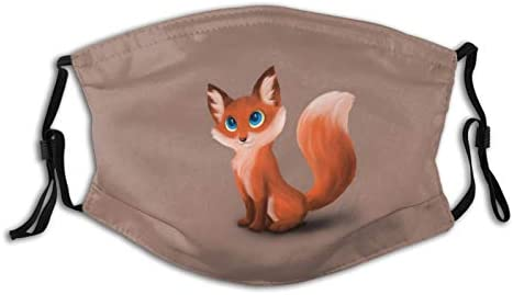 Cartoon Fox Face Mask for Adults Teens Washable Face Balaclava Reusable Fabric Mask with 2 Filter product image